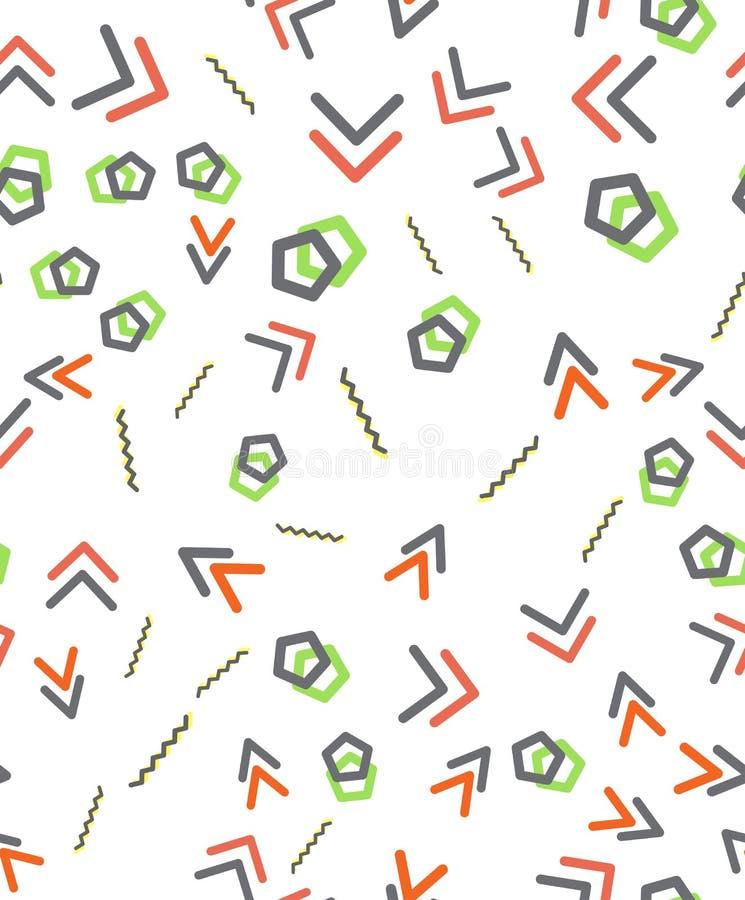 Seamless primitive geometric patterns. Trendy hipsters modern pattern. vector illustration