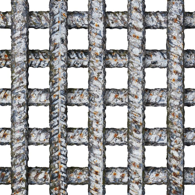 Seamless prison grate with crossing thick metal bars isolated on white. Thick crossing metal bars of prison grate isolated on white background. Seamless pattern royalty free stock image