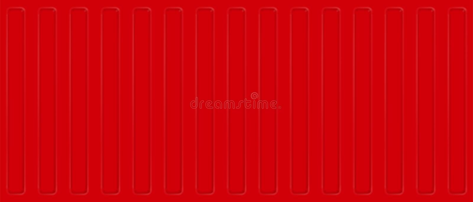 Seamless profile sheet wall. Red cargo shipping container. Vector background. Seamless profile sheet wall. Red cargo shipping container. Vector background vector illustration