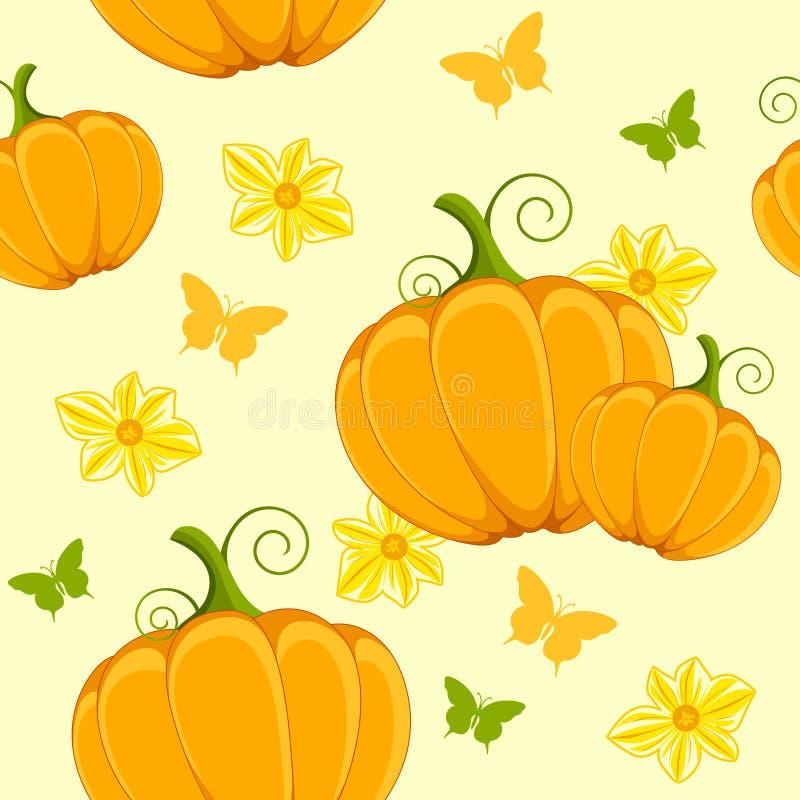 Seamless With Pumpkin Royalty Free Stock Photos