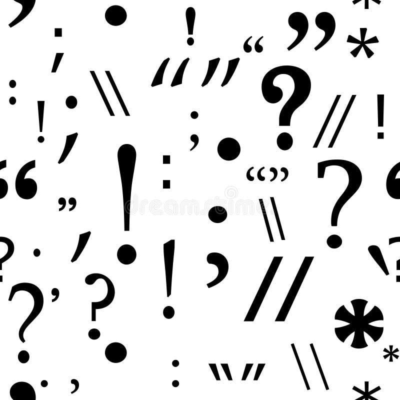 Seamless punctuation pattern stock illustration
