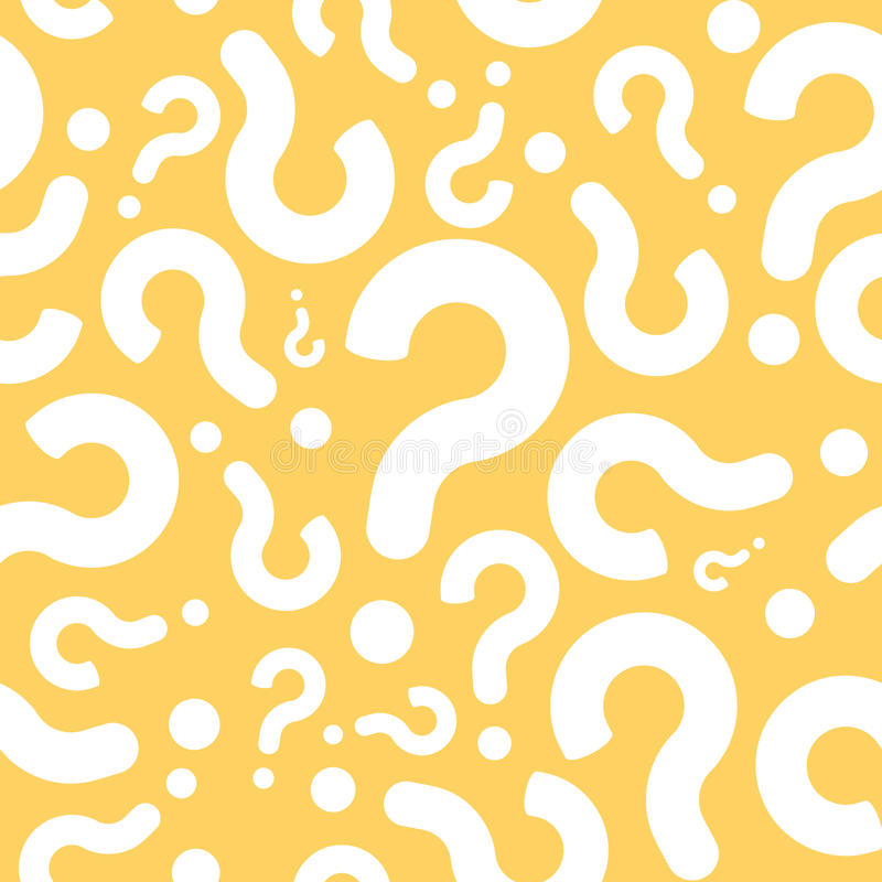 Seamless Question Mark Dialog Background royalty free illustration