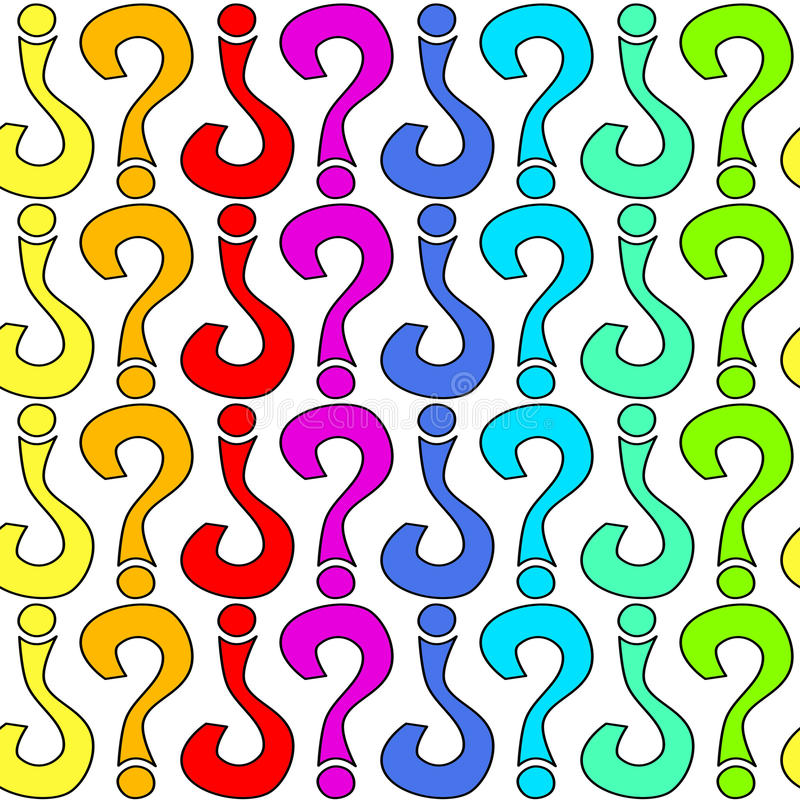 Download Seamless Question Marks Colorful Pattern Texture Stock Illustration - Image: 97217834