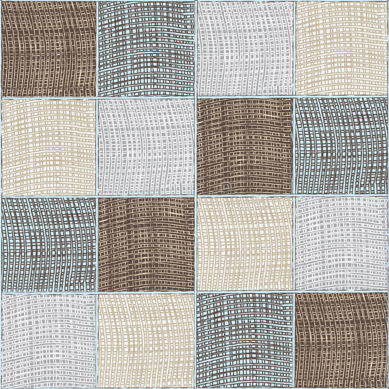 Seamless quilt checkered medley composition royalty free illustration