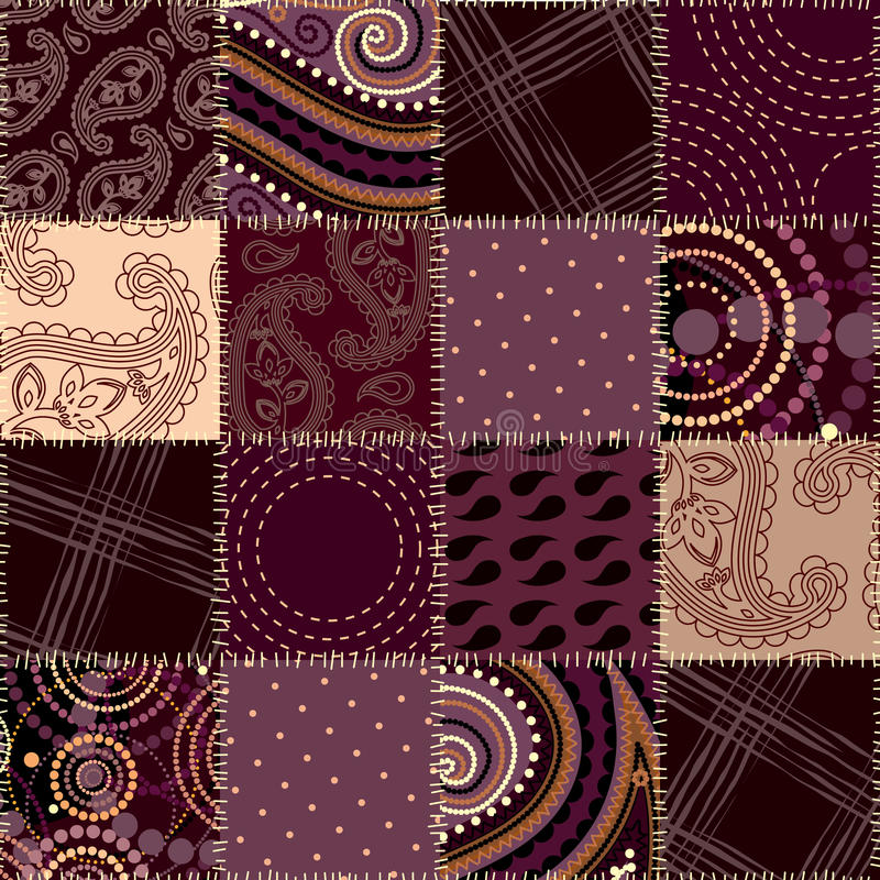 Seamless quilt pattern. Will tile endlessly vector illustration