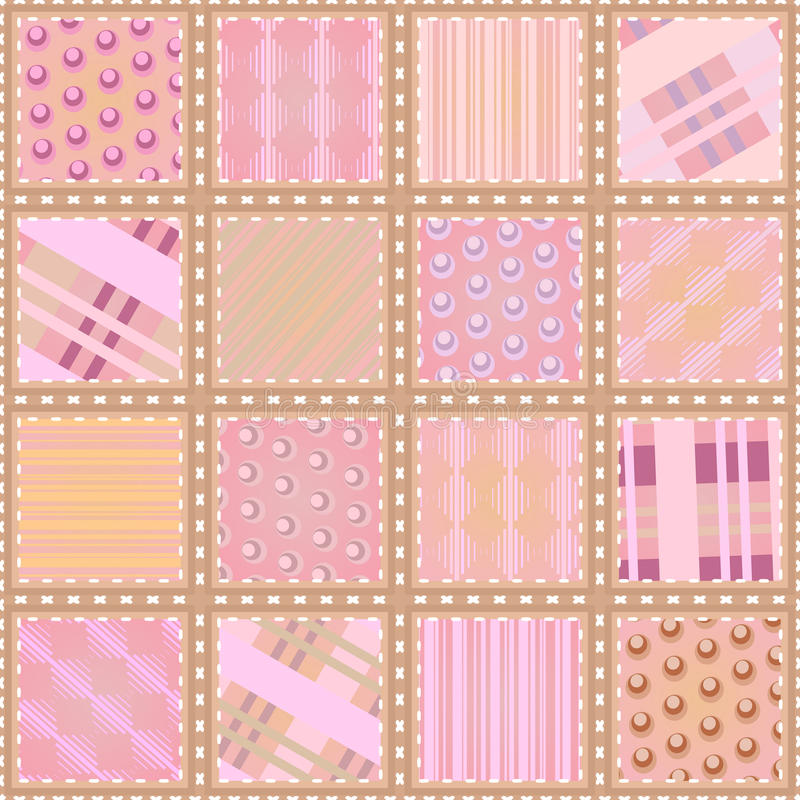 Seamless Quilt Texture Royalty Free Stock Photos