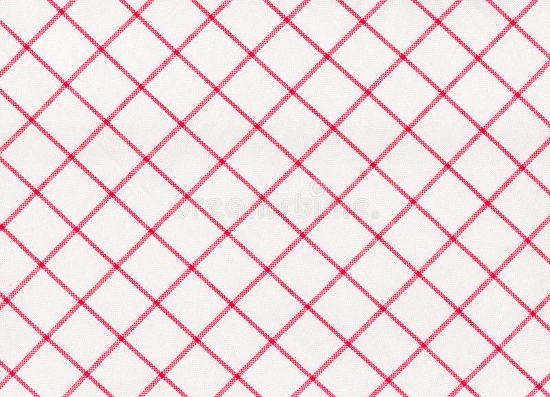 Seamless röd randig tablecloth vektor illustrationer