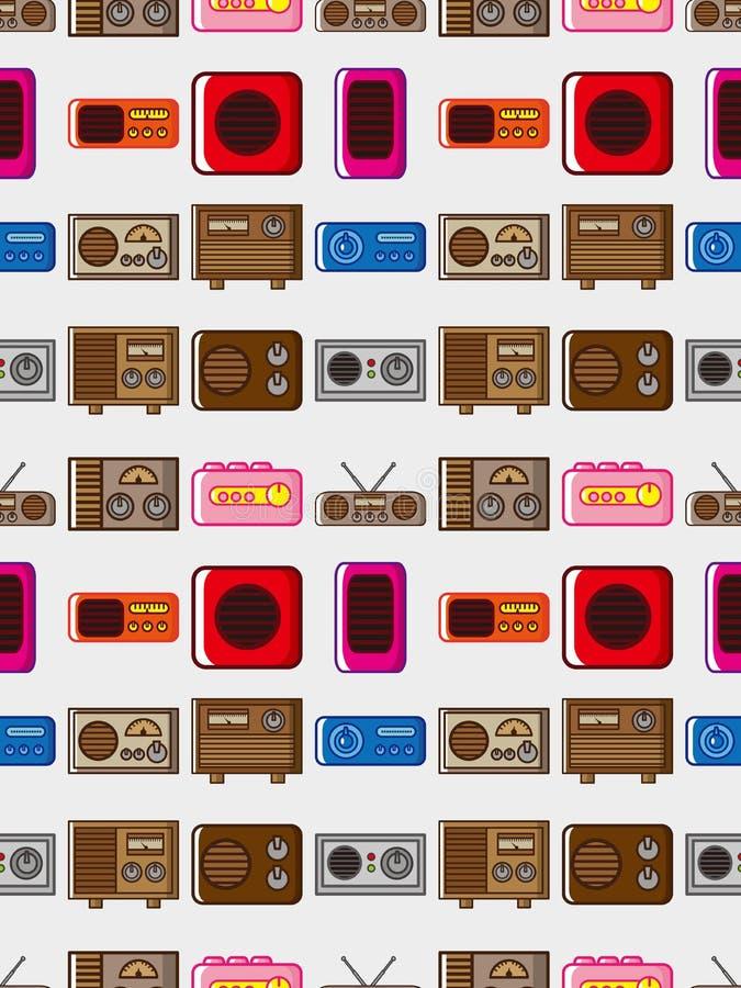 Seamless Radio Pattern Royalty Free Stock Photos