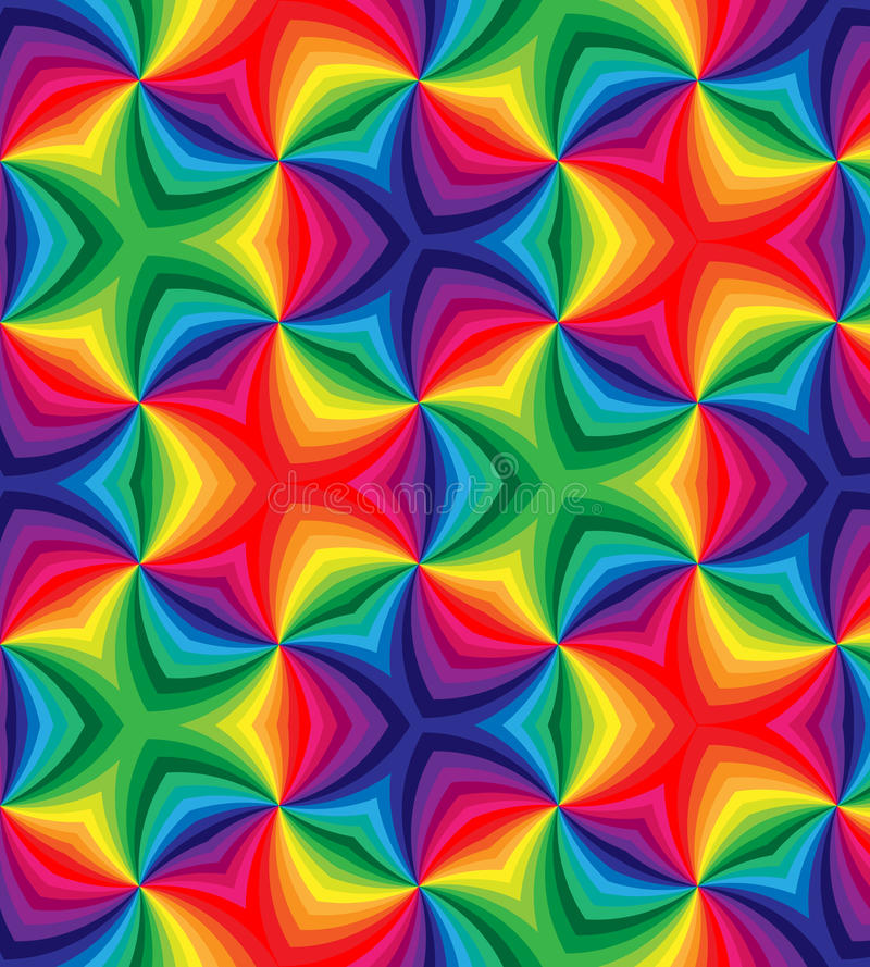 Seamless Rainbow Colored Curls Pattern.Geometric Colorful Abstract Background vector illustration