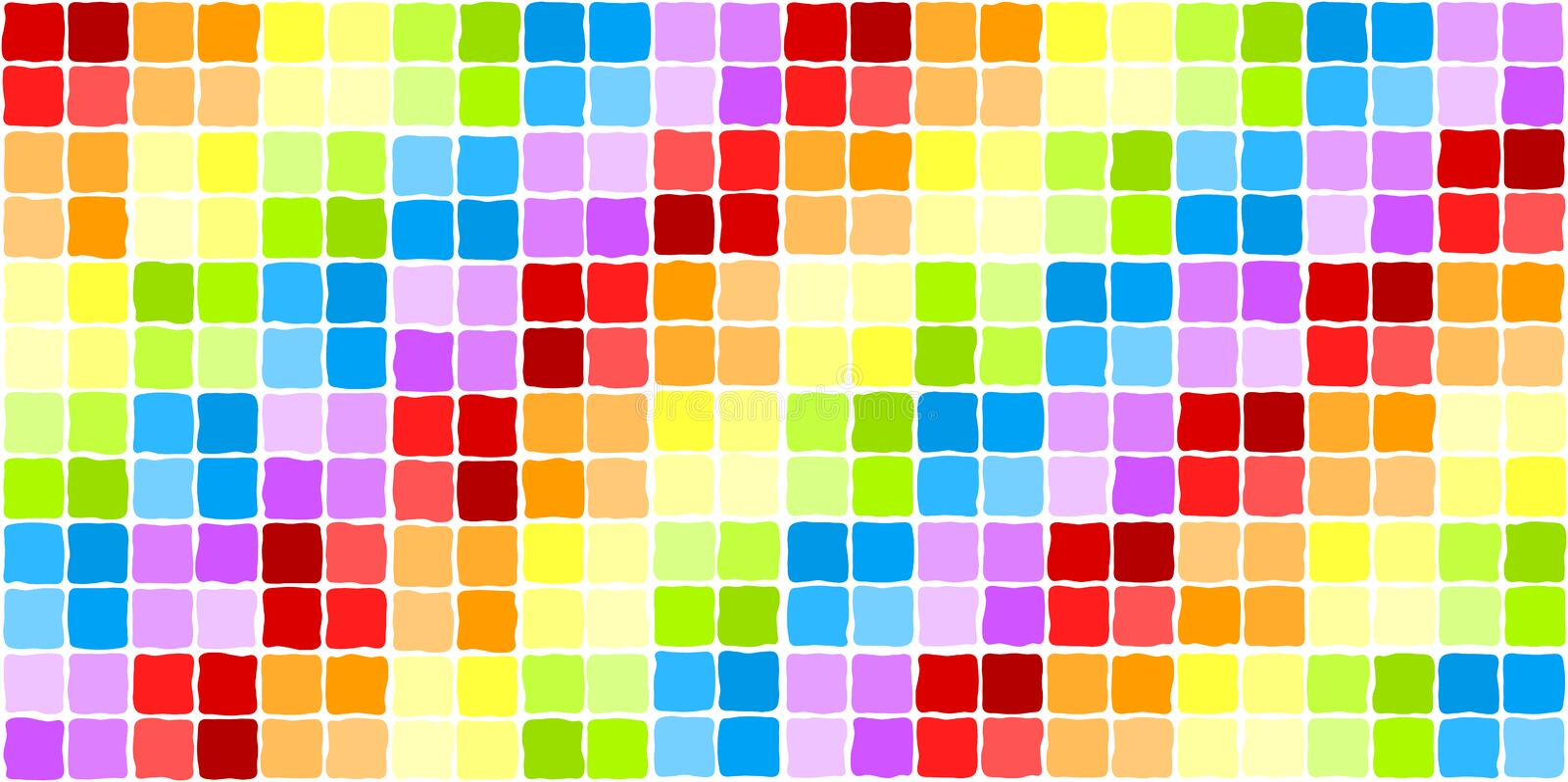 Download Seamless Rainbow Mosaic Tiles Stock Illustration - Image: 24222231