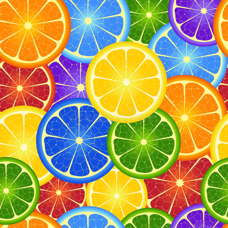 Seamless rainbow orange background royalty free illustration