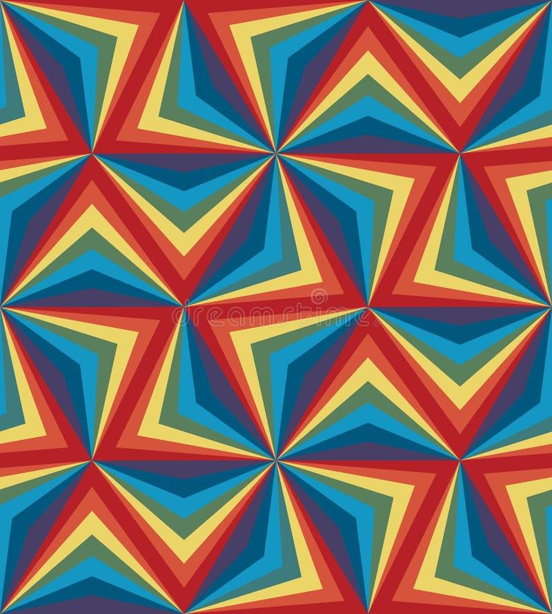 Seamless Rainbow Poligonal Pattern. Geometric Abstract Background stock illustration