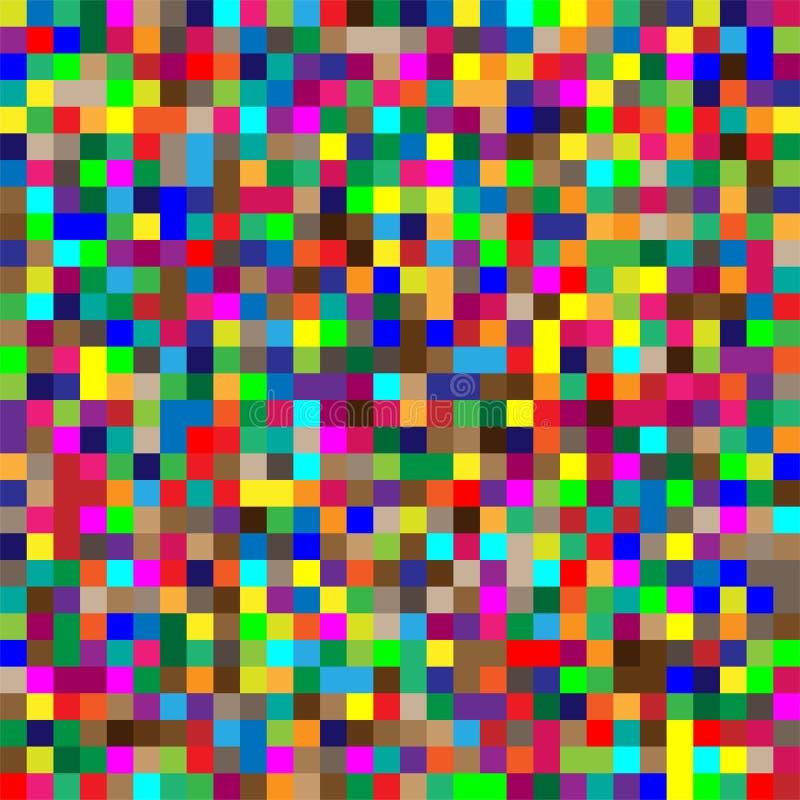 Free Seamless Random Squares, Mosaic Tiles Pixelated, Pixels Colorful Vibrant, Vivid Background / Pattern. Blocks Repeatable Pattern. Stock Image - 159340021