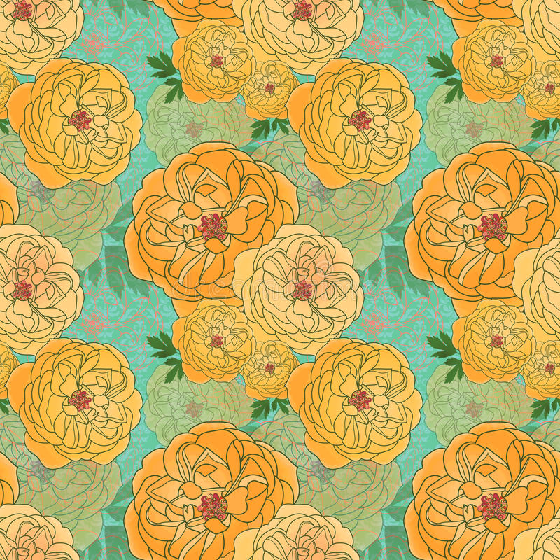 Download Seamless Ranunculus Pattern Stock Vector - Image: 23603940