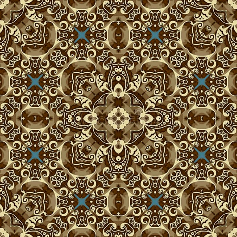 Seamless raster pattern in oriental style psychedelic mosaic Pattern for wallpaper, backgrounds, decor for tapestries, carpet royalty free stock photo