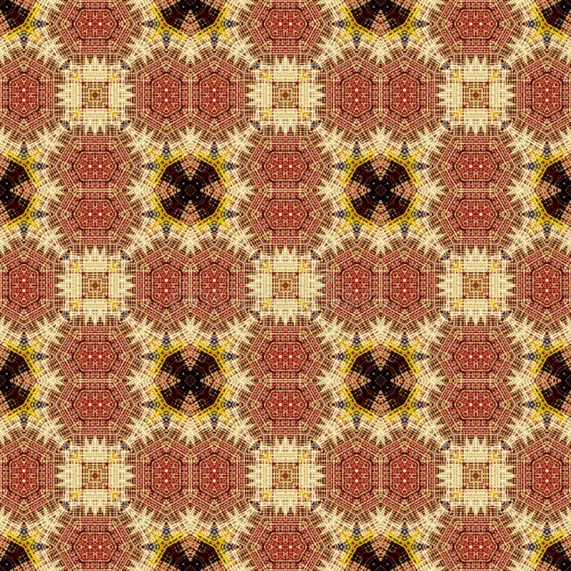 Seamless raster pattern in oriental style psychedelic mosaic Pattern for wallpaper, backgrounds, decor for tapestries, carpet royalty free stock photography