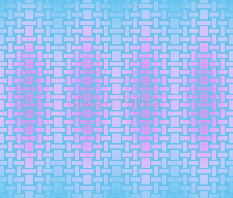 Seamless rectangles and squares pattern violet pink light blue turquoise royalty free illustration