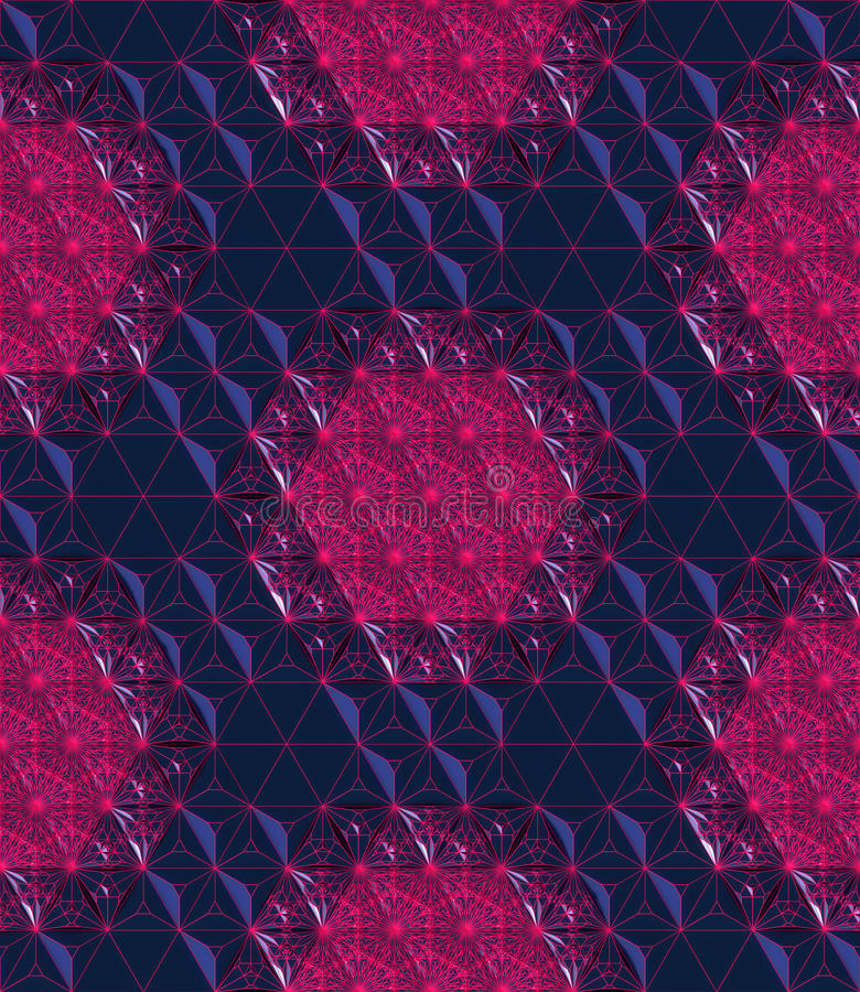 Free Seamless Red Abstract Grid On A Blue Reflection Low Poly Background 3d Rendering Stock Photo - 80491470