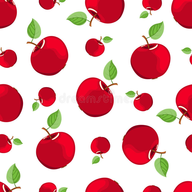 Download Seamless red apple pattern stock vector. Image of freshness - 18415727