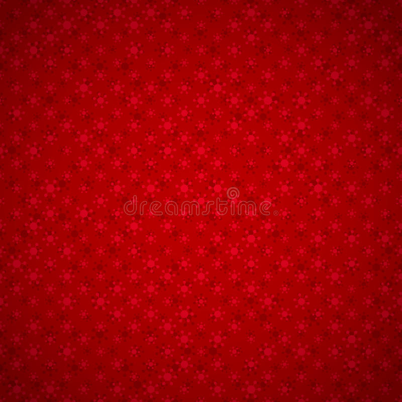 Seamless red background with snowflakes royalty free illustration