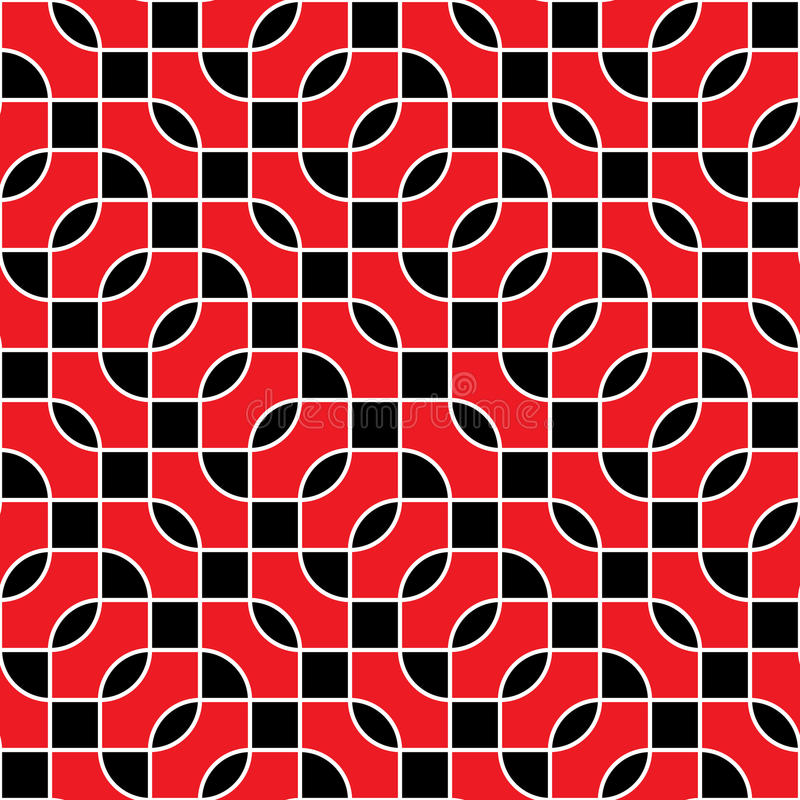 Download Seamless Red And Black Vector Pattern Stock Vector - Image: 25503021