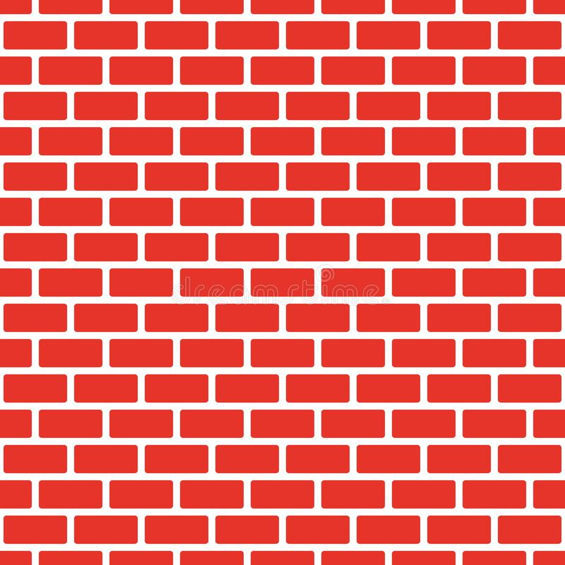 Seamless red brick wall, white bead. Continuous replication of the texture pattern. Vector illustration. Eps royalty free illustration