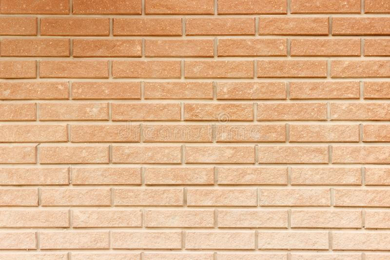Seamless red bricks wall pattern. Orange brick texture royalty free stock image