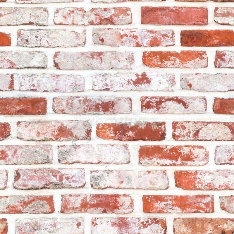 Seamless Red brickwall stock photo