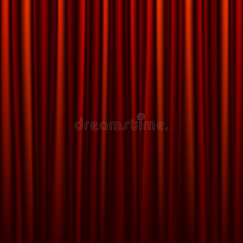 Download Seamless red curtain stock vector. Image of concert, event - 21035198