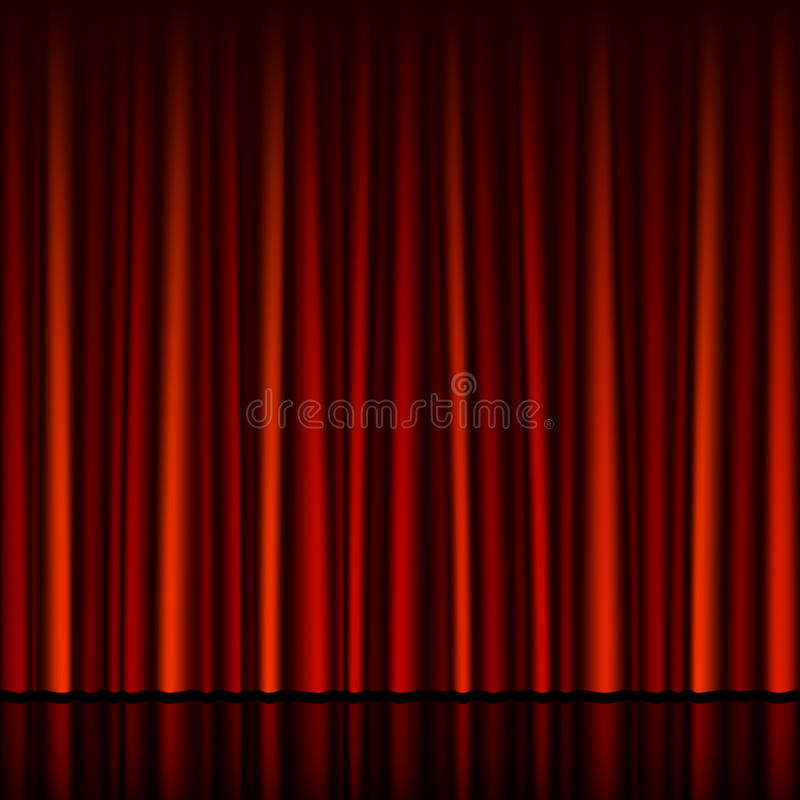 Download Seamless Red Curtain With Stage Stock Vector - Image: 21060613
