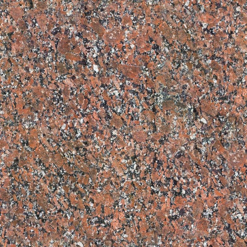 Seamless Red Granite Stone Background Texture stock image