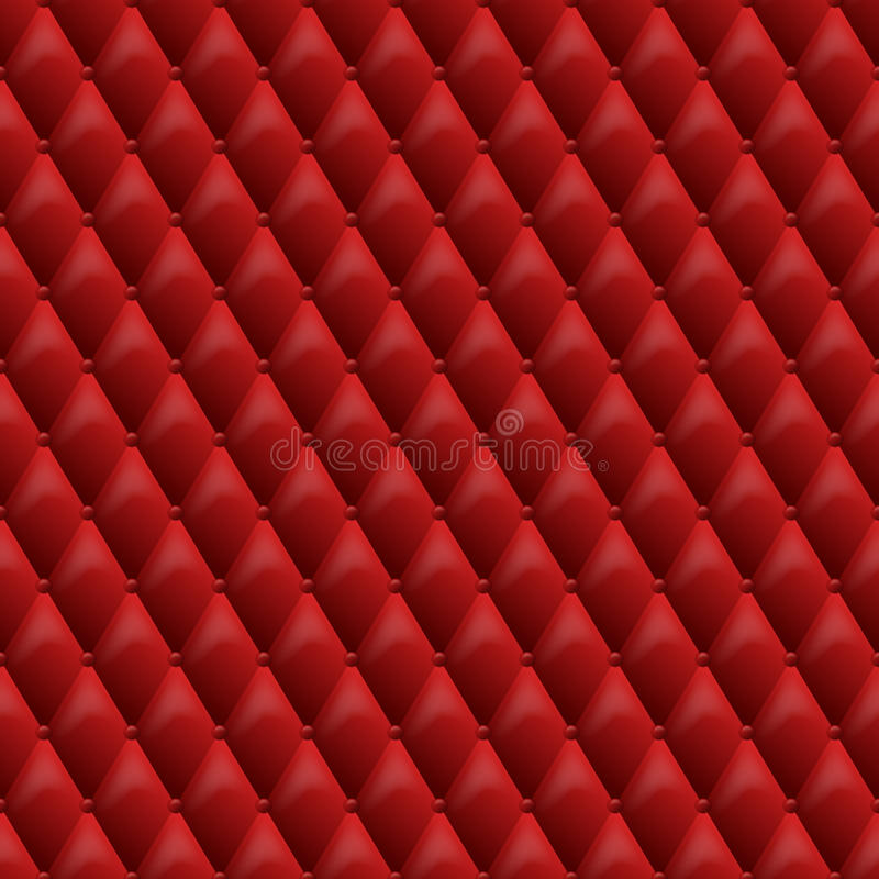 Seamless red leather texture. Vector leather background. Luxury textile design, interior and furniture decoration concept stock illustration