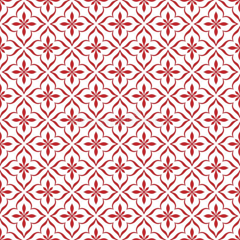 Seamless Red Vintage Ornament Pattern in White Background. Seamless red ornament texture for web background, wallpaper, banner or poster template. Vector file is vector illustration