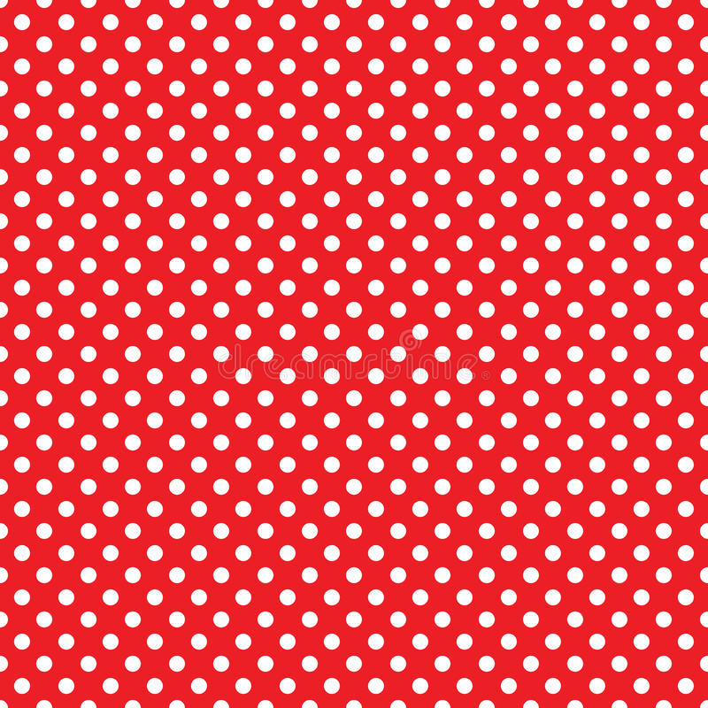 Free Seamless Red Polka Dot Background Royalty Free Stock Photography - 51479917
