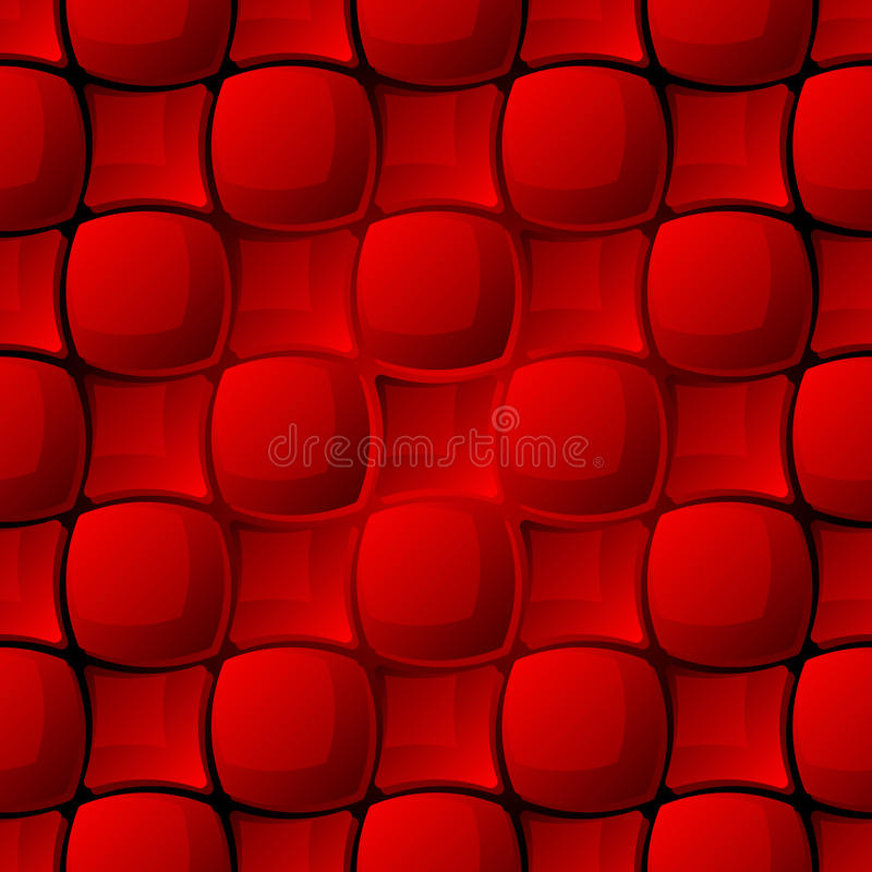 Seamless Red Tile Pattern Royalty Free Stock Photos