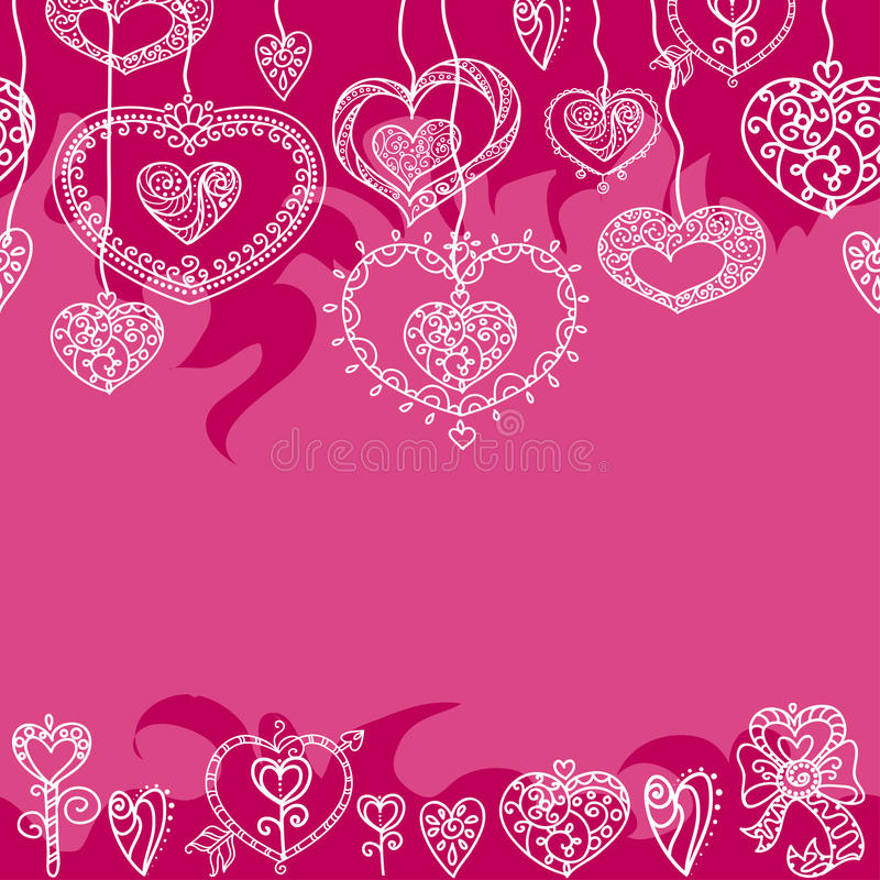 Seamless red Valentine`s pattern royalty free stock photos