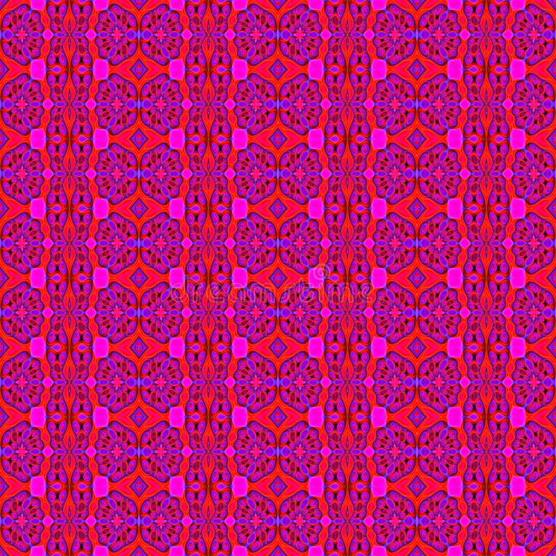Seamless regular floral pattern red purple vector illustration