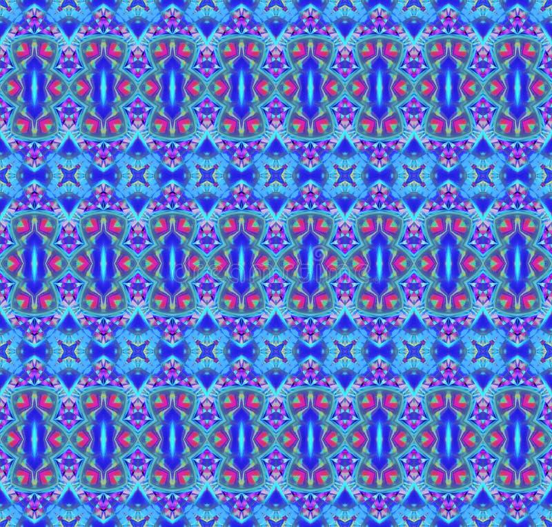 Seamless regular pattern blue violet purple green stock illustration