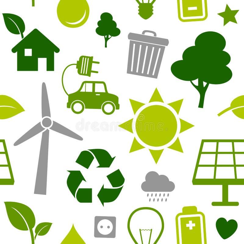 Seamless ren energi mönstrar stock illustrationer