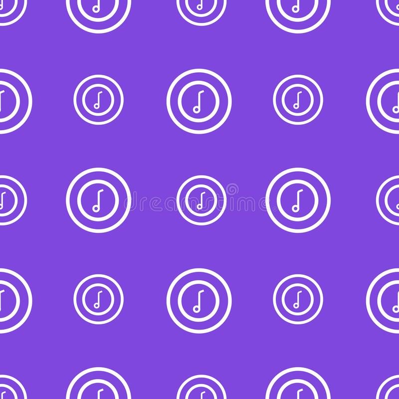 Seamless repeat bright pattern with music note icons. White objects on the trendy violet background royalty free illustration