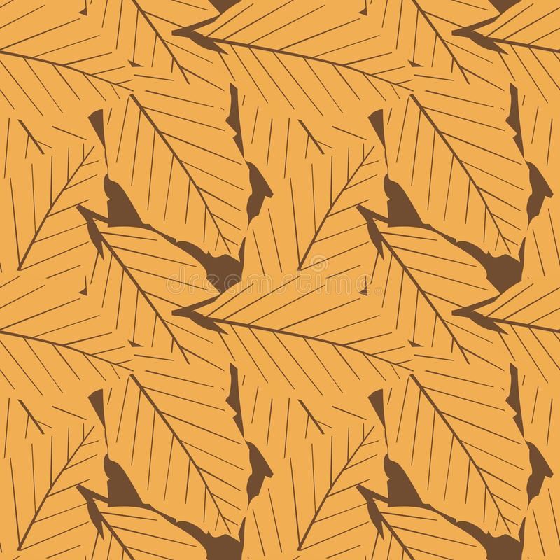 Seamless Repeat Duel Color Autumn Leaves royalty free stock photos