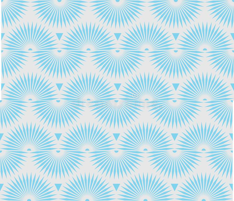 Seamless Repeat Looping Spikes Pattern. These looping spikes is an abstract inspiration of ice crystals vector illustration