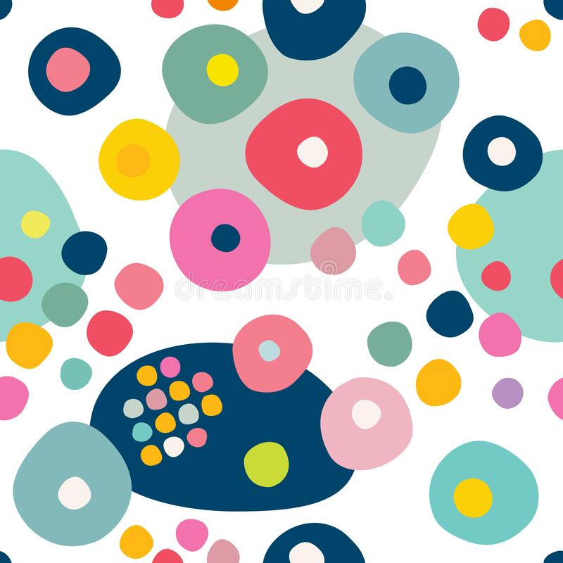Free Seamless Repeat Pattern Of Colorfull Circles, Dots. Vector Stock Image - 220868551