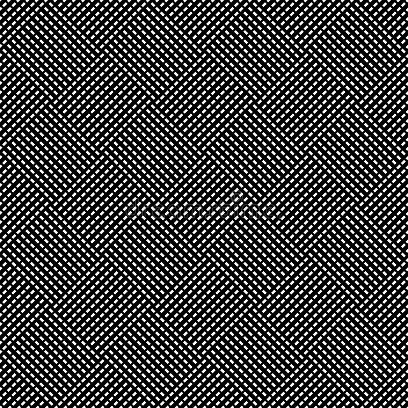 Seamless (repeatable) geometric abstract monochrome pattern. Til stock illustration