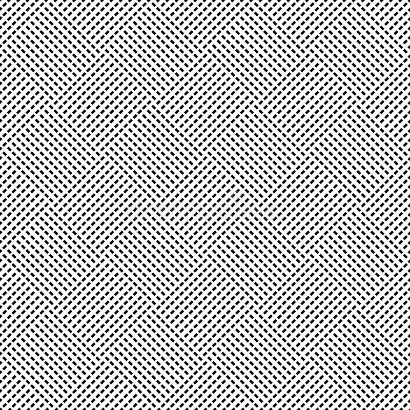 Seamless (repeatable) geometric abstract monochrome pattern. Til vector illustration