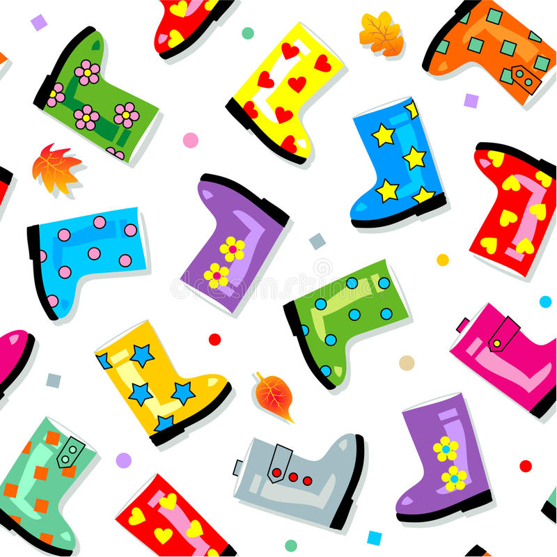 Download Seamless (repeatable) Gumboots Pattern Stock Vector - Image: 11210261