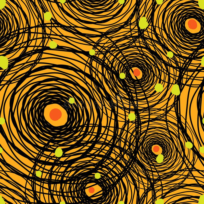 Seamless repeating background from abstract spider webs and dots. Vector stock illustration