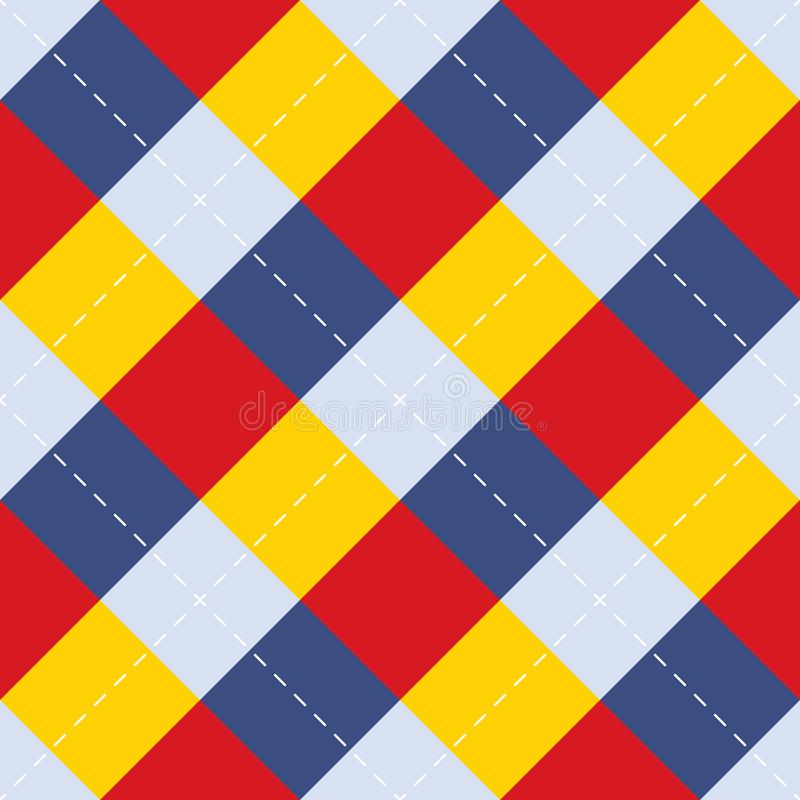 Seamless repeating background of squares and dashed lines stock illustration