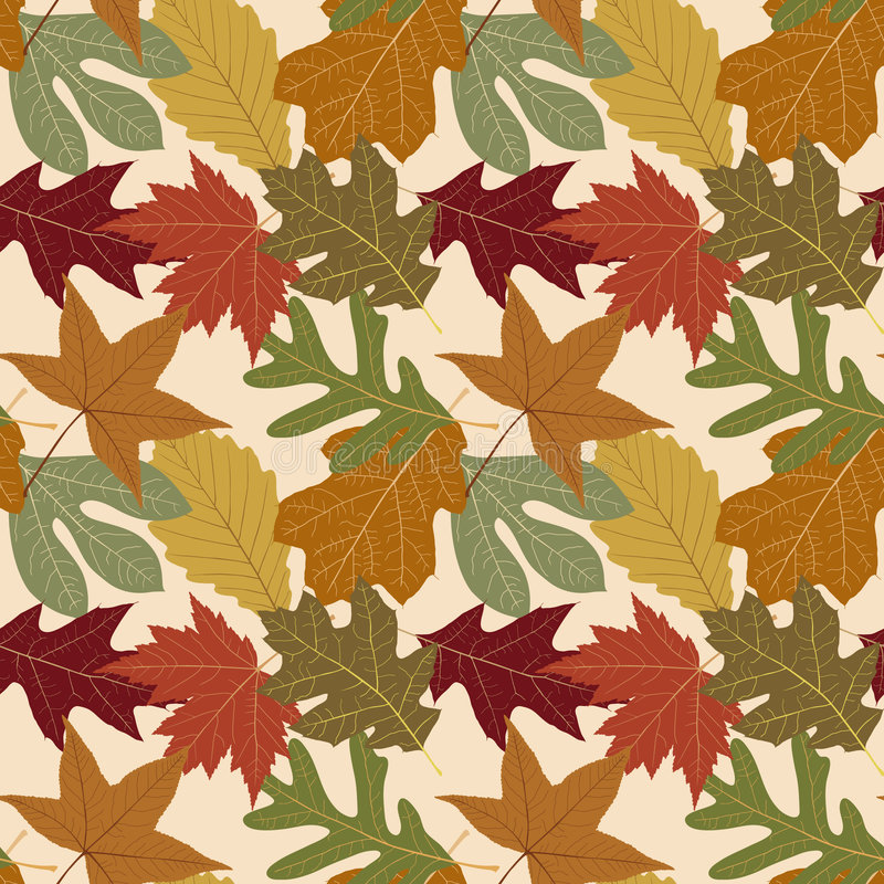 Download Seamless Repeating Fall Leaf Background Stock Vector - Image: 1975827