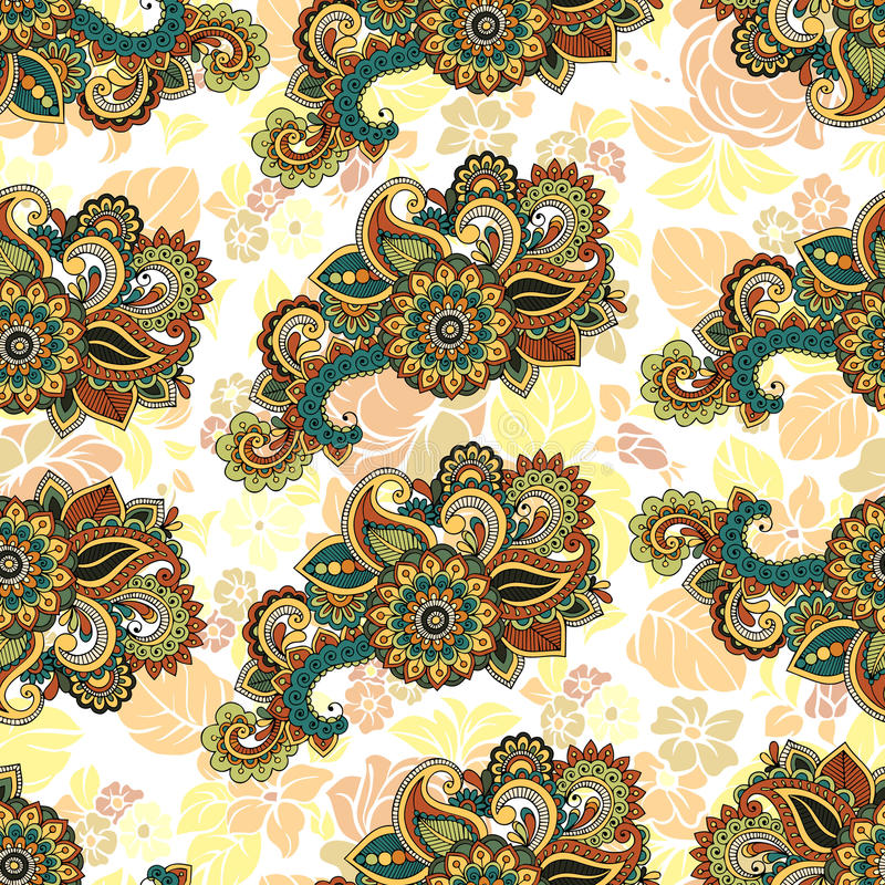 Seamless repeating floral pattern royalty free illustration